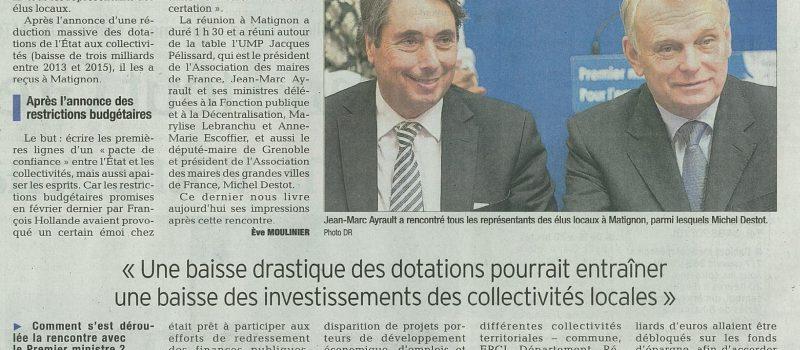 Finances locales : mon interview au Dauphiné Libéré