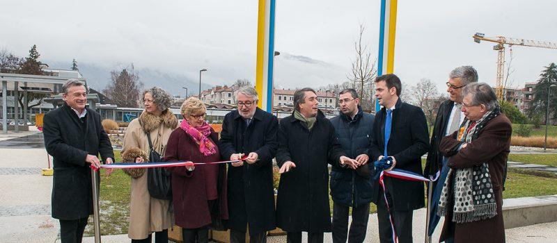 Inauguration de la sculpture « Grand cadre » au Lycée Argouges