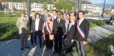 Lors de l'inauguration de la place de la Résistance, en présence de Geneviève Fioraso, Secrétaire d'Etat à l'enseignement supérieur et à la recherche, de Monsieur le Préfet de l'Isère, et de nombreux élus.