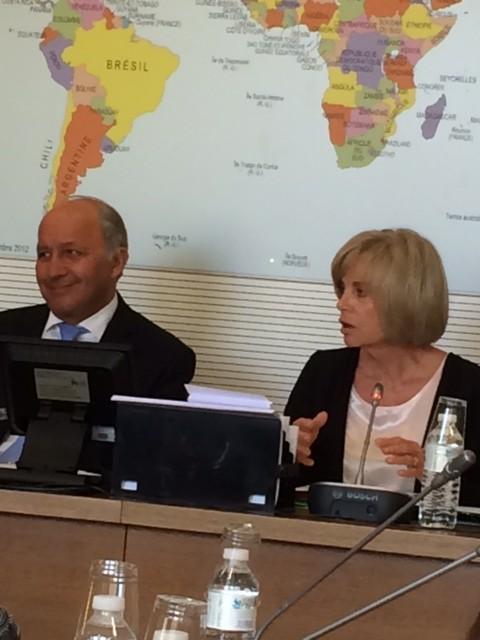 Ce matin, lors de la Commission des Affaires étrangères avec Laurent Fabius, Ministre des Affaires étrangères et du développement international, et Elisabeth Guigou, Présidente de la Commission des Affaires étrangères de l'Assemblée Nationale