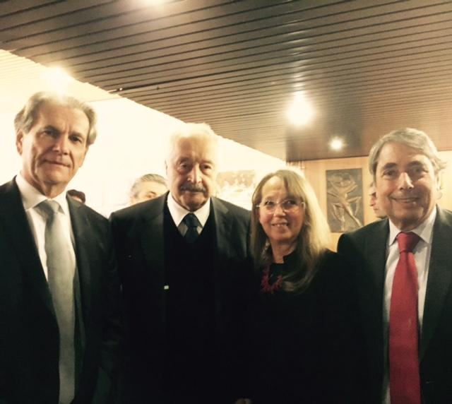 Jean-Paul Bonnetain, préfet de l'Isère, Viguen Tchitetchian, ambassadeur d'Arménie en France, Marie et moi.