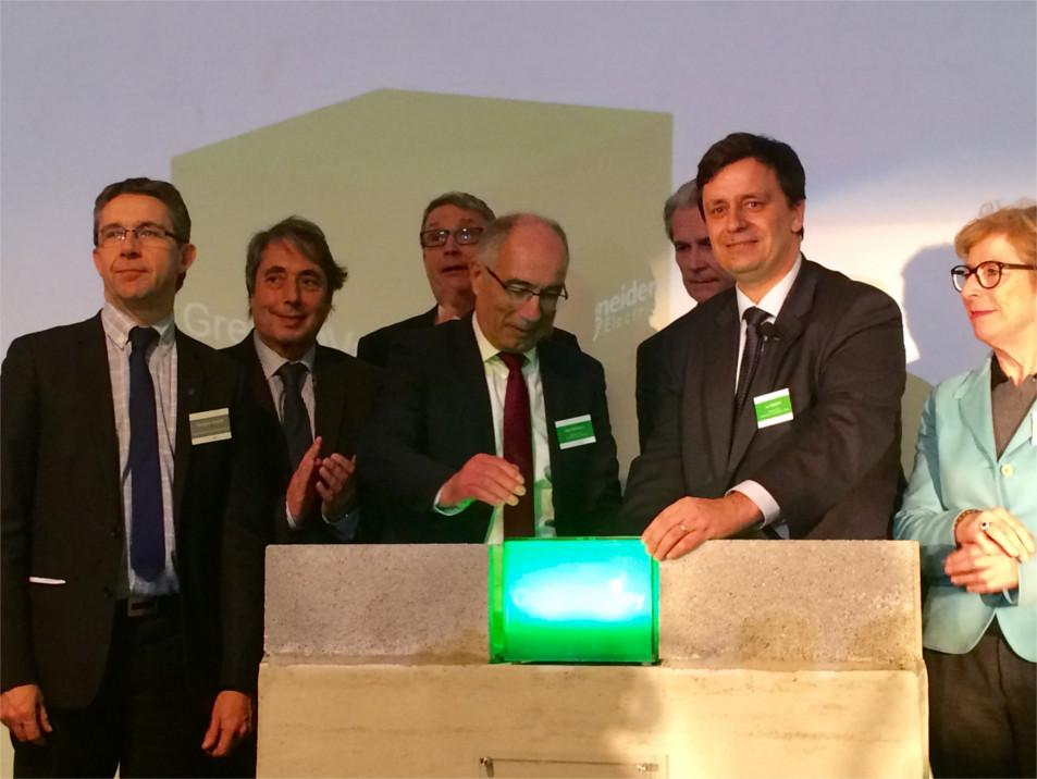 Pose de la première pierre du projet GreenOValley de Schneider Electric