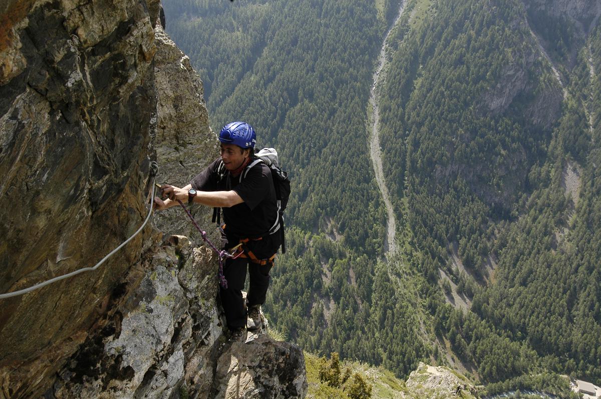 """2005 - Via ferrata Les mines du Clôt La Grave / """"Je ne peux nier non plus que ma passion pour Grenoble s'est aussi nourrie de mon autre passion, ma passion pour la montagne"""""""