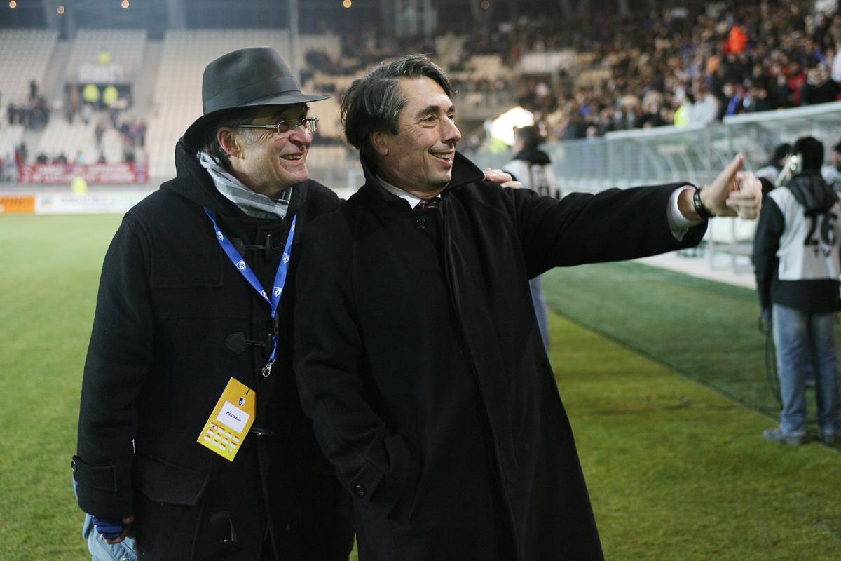 2008 - Match d'ouverture au Stade des Alpes avec Alain Fessler - © Sylvain Frappat