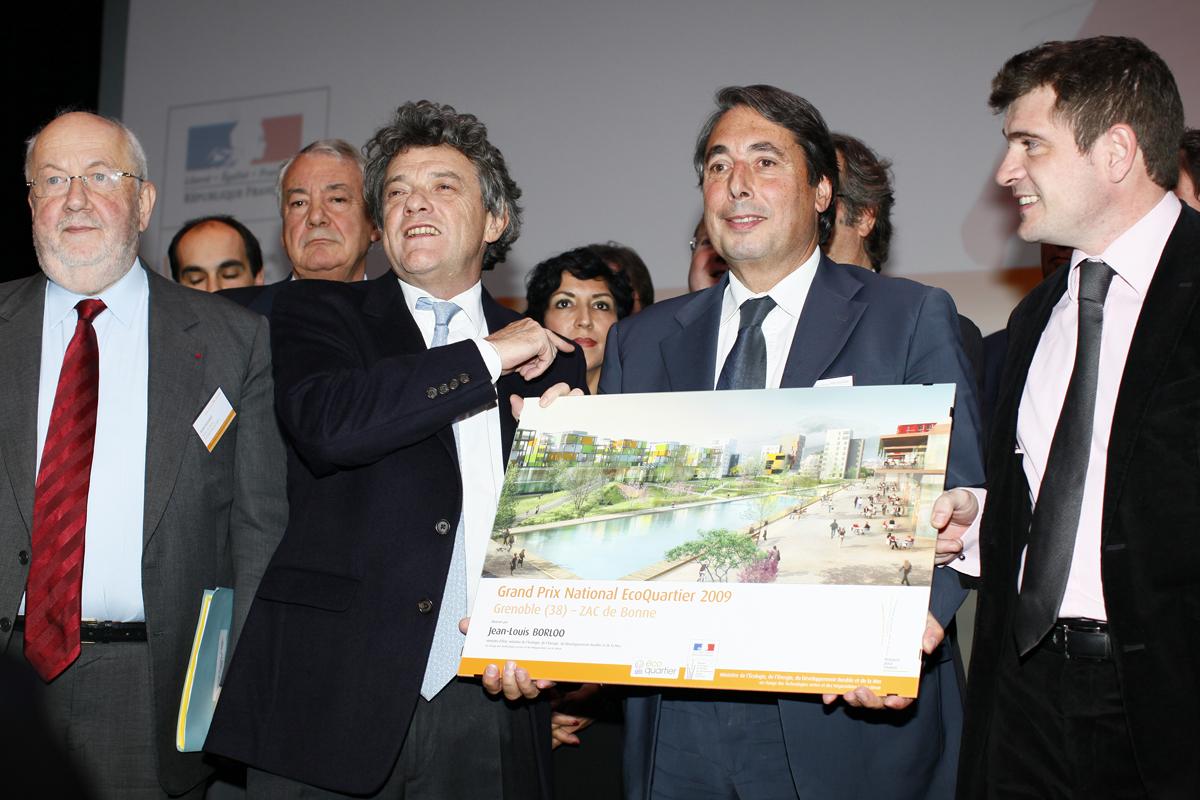2009 - Grenoble hautement distinguée pour son écoquartier de Bonne par le Grand Prix National EcoQuartier