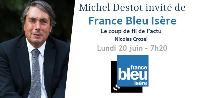 Interview sur France Bleu Isère – La primaire à gauche et la situation financière de la Ville