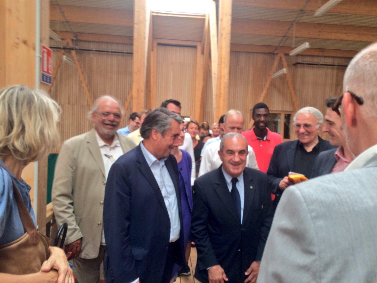 Jean Gachassin, président de la Fédération Française de Tennis était présent pour cette inauguration.