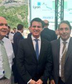 Aux côtés de Michel Bouvard, Sénateur de Savoie et de Manuel Valls, Premier Ministre
