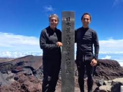 Au sommet du Fujiyama (3776m) avec mon fils Matthieu