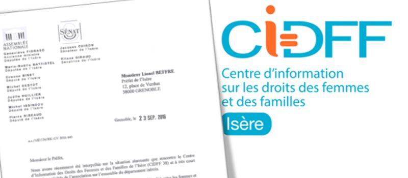 Lettre des parlementaires socialistes de l'Isère en soutien au CIDFF38