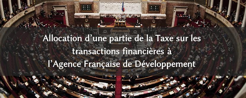 Pour l'allocation d'une partie de la TTF à l'Agence Française de Développement