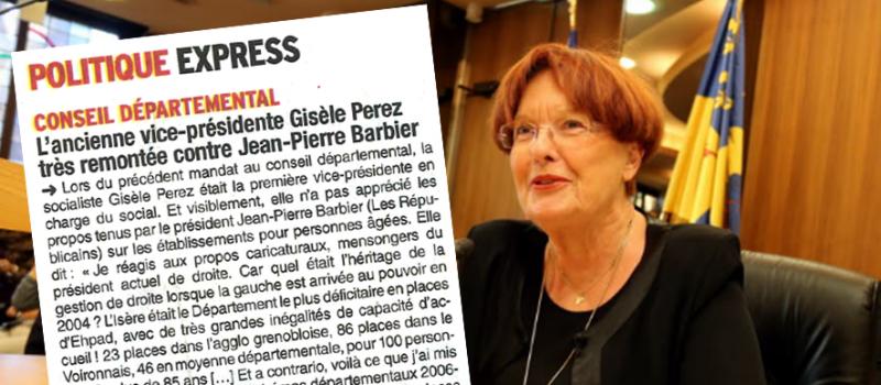 Réaction de Gisèle Perez aux propos de la droite départementale concernant les Ehpad