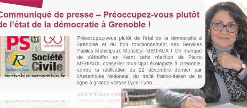 Communiqué du Groupe de gauche et de progrès : «Préoccupez-vous plutôt de l'état de la démocratie à Grenoble !»