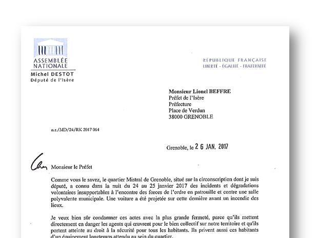 Ma Lettre Adressée Au Préfet De L Isère Concernant La