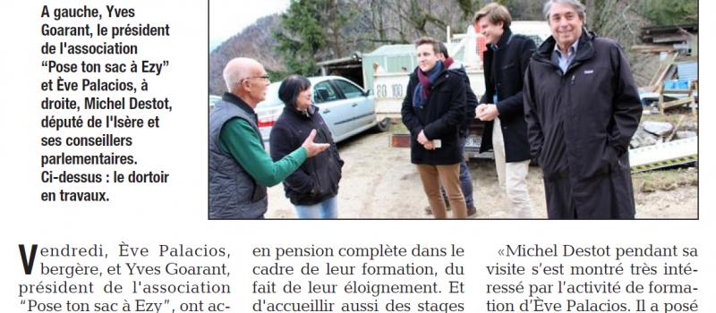 «Le député Michel Destot a visité la bergerie d'Ezy»