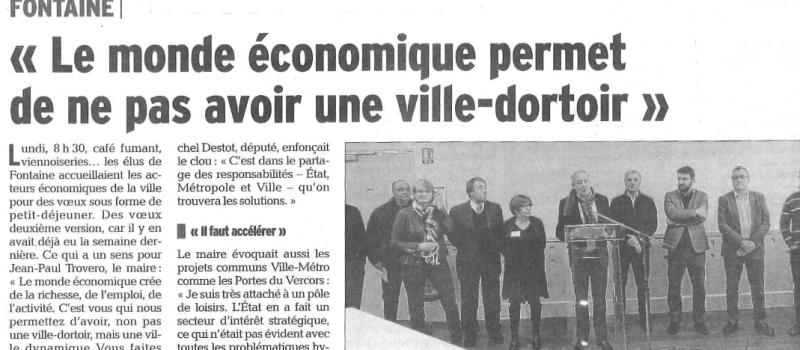 Retour sur les vœux aux acteurs de la vie économique à Fontaine