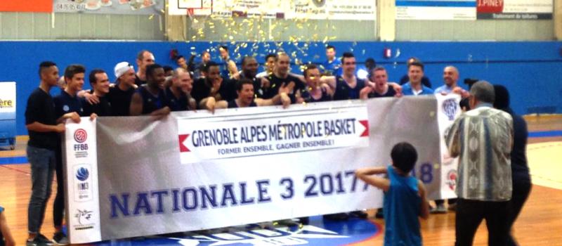 Beaucoup de joie pour la montée en N3 du Grenoble Alpes Métropole Basket
