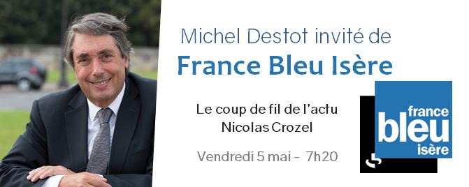 Interview sur France Bleu Isère – En vue du second tour de l'élection présidentielle