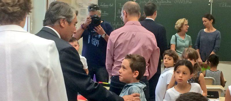 Rentrée scolaire 2016 : visite des écoles de ma circonscription et de l'agglomération