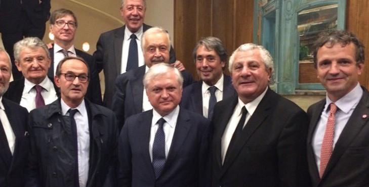 Dîner avec l'Ambassadeur d'Arménie en France et le Ministre des Affaires étrangères d'Arménie
