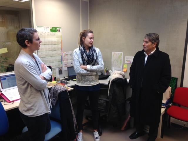 Visite des nouveaux locaux de la Pousada, pépinière d'entreprises