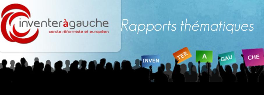 Rapport thématique «Inventer à Gauche» 2/4 : Education