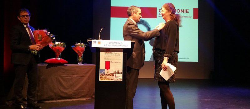 Remise de la légion d'honneur à Lise Dumasy et 50 ans de l'ILL en présence de Thierry Mandon