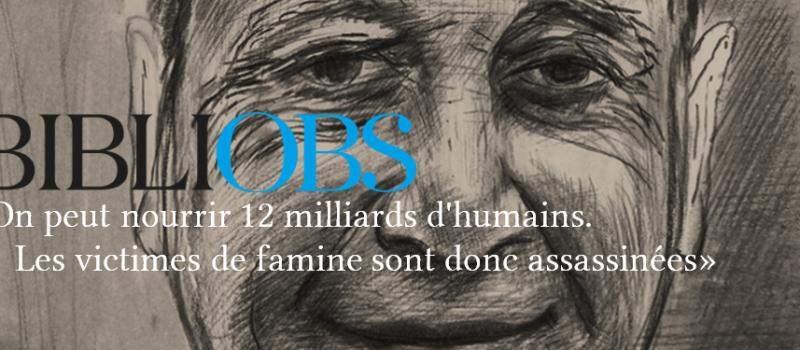 Entretien avec Jean Ziegler «On peut nourrir 12 milliards d'humains […]»